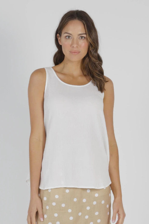 Betty Basics - Chandler Top, White