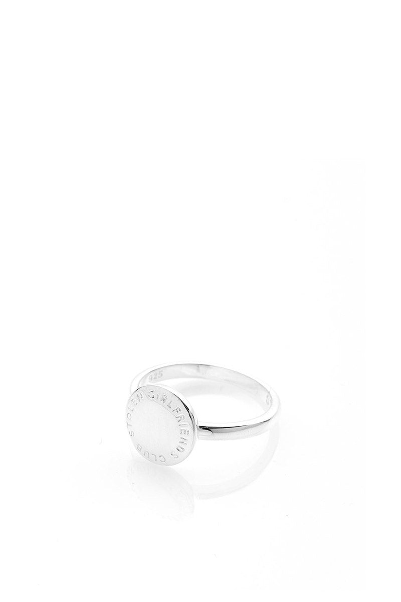 Stolen Girlfriends Club - Text Logo Seal Ring, Silver