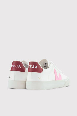 Veja - Campo Chrome Free Leather Sneaker, Extra White Emeraude Black