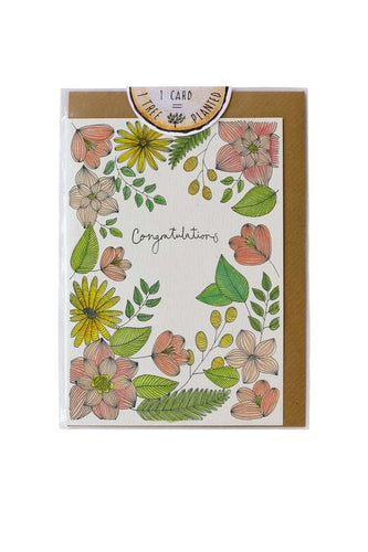 Little Difference - Congratulations Flowers Card