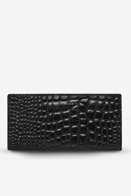 Status Anxiety - In The Beginning Wallet, Black Croc