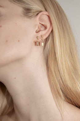 Flash - Ricci Topaz Studs, Gold