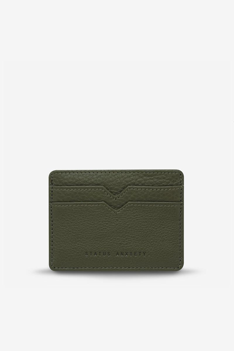 Status Anxiety - Together For Now Card Holder, Khaki