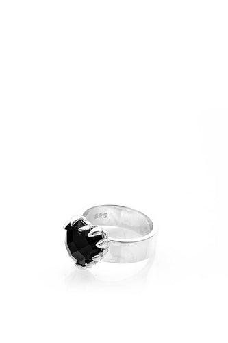 Stolen Girlfriends Club - Love Claw Ring, Onyx/Silver