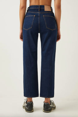 Assembly Label - High Waist Flare Jean, Vintage Blue