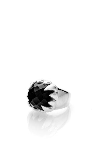 Stolen Girlfriends Club - Claw Ring, Onyx/Silver