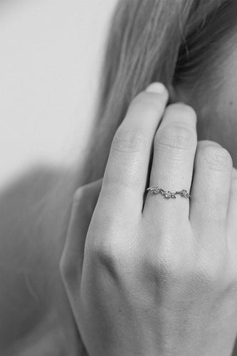 Meadowlark - Alba Band Ring, Sterling Silver