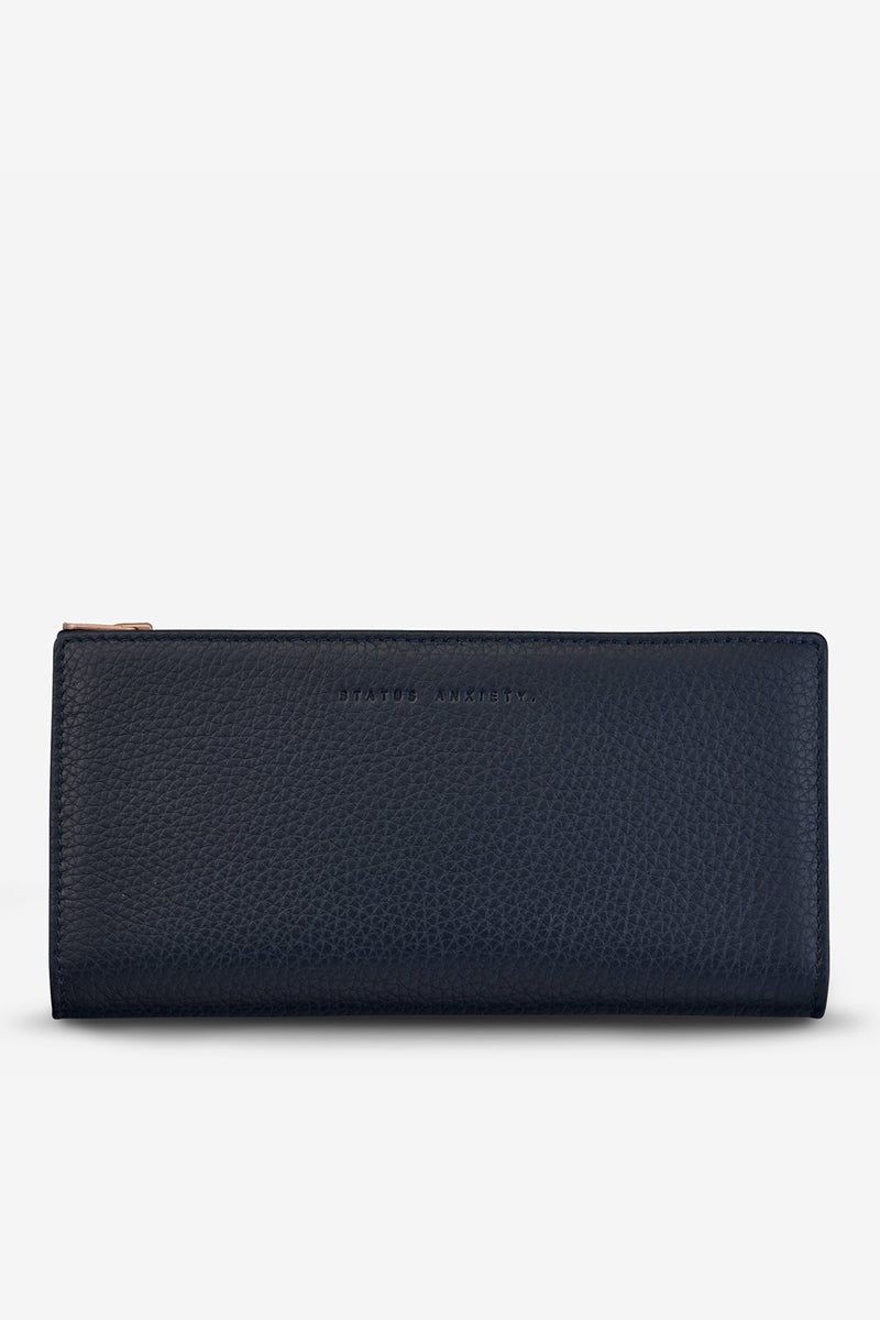 Status Anxiety - In The Beginning Wallet, Navy Blue