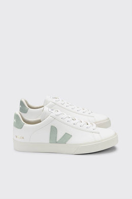 Veja - Campo ChromeFree Leather Sneaker, Extra White Matcha