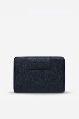 Status Anxiety - Popular Problems Wallet, Navy Blue