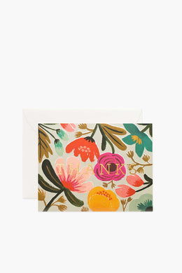 Rifle Paper Co - Greeting Card, Gold Floral Thank You