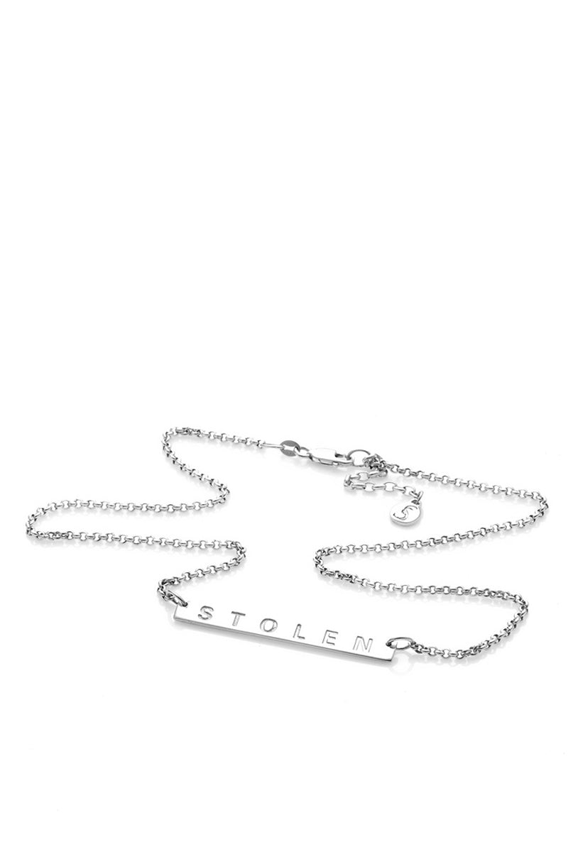 Stolen Girlfriends Club - Stolen Plank Necklace, Silver