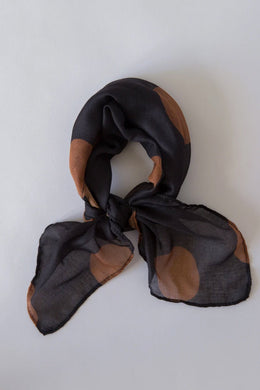 Sophie - So Spotty Mini Scarf, Black Toffee