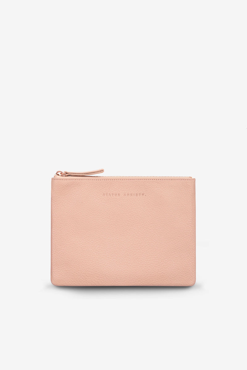 Status Anxiety - Fake It Clutch, Dusty Pink