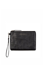 Status Anxiety - Fixation Clutch, Black Croc Emboss