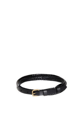 Status Anxiety - Only Lovers Left Belt, Black Plaited