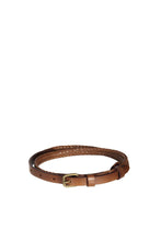 Status Anxiety - Only Lovers Left Belt, Tan Plaited