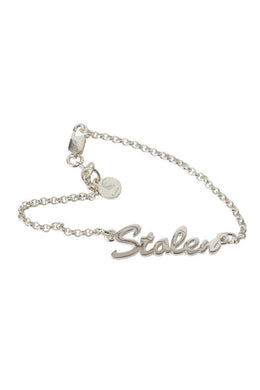 Stolen Girlfriends Club - Stolen Script Bracelet, Silver