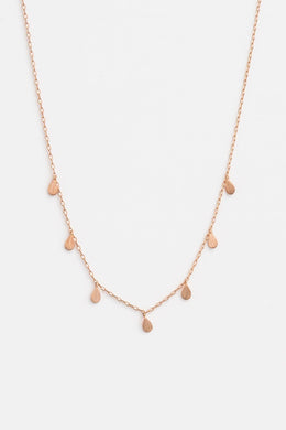 Stella + Gemma - Tear Drops Necklace, Rose Gold