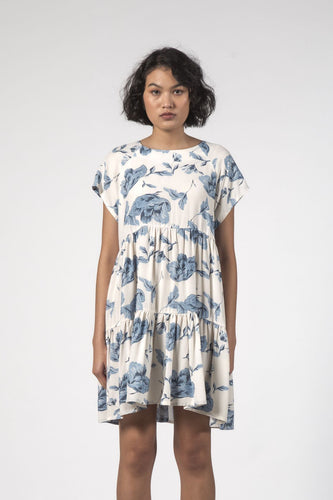 Thing Thing - Twirl Dress, Floral Blue