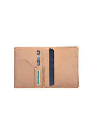 Status Anxiety - Conquest Passport Wallet, Tan