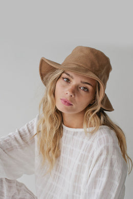 Sophie - Wool Bucket Hat, Camel
