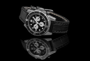 Panda Dial Black Stainless