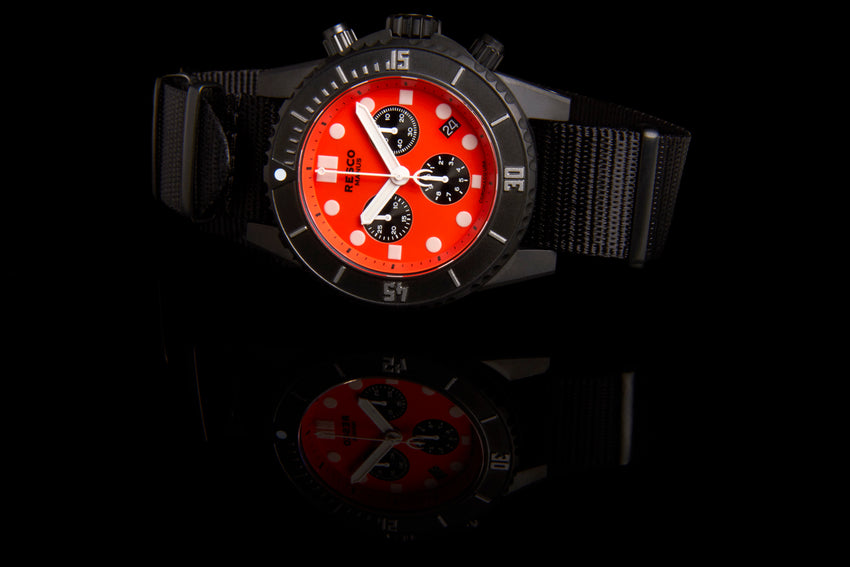 Orange/Black Pvd