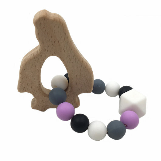 Wooden Baby Nursing Bracelets with Silicone Beads for Teething - Honest Maternity