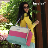 Striped Large Capacity Multi-functional Maternity Changing Shoulder Bag