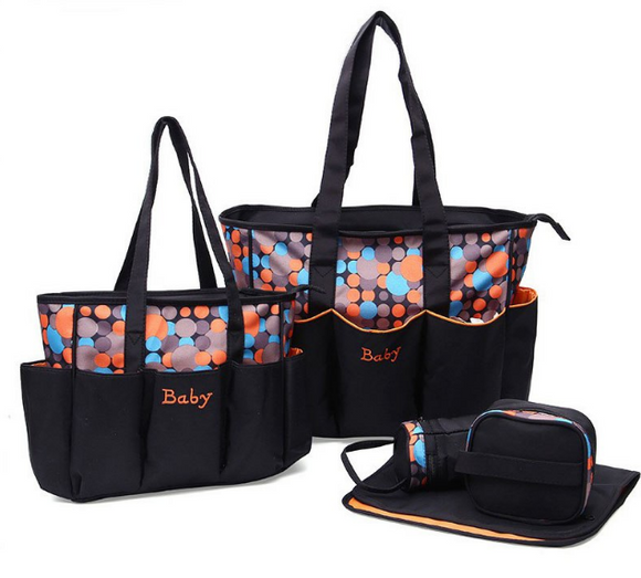 5pcs Large Baby Changing Bag Set