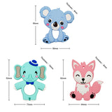 Food Grade Silicone Teethers (DIY Animal Koala Baby Ring Teether)