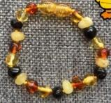 Natural Baltic Amber Teething Bracelets Anklets 4.7--8.7'' Handmade Original Jewelry Baltic Amber Beads for Baby Adult Wholesale
