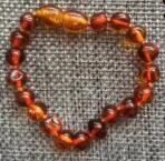 Natural Baltic Amber Teething Bracelets Anklets 4.7--8.7'' Handmade Original Jewelry Baltic Amber Beads for Baby Adult Wholesale - Honest Maternity