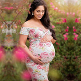 Maternity Dress (Maxi Floral Ankle-Length)