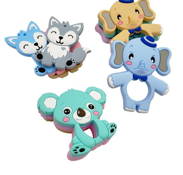 Food Grade Silicone Teethers (DIY Animal Koala Baby Ring Teether) - Honest Maternity