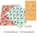2 piece Beeswax Food Wrap (Food Grade)