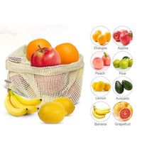 6 PACK = 3pc Beeswax Food Wrap + 3pc Cotton Mesh Bag