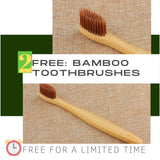 FREE: 2 pieces Brown Bamboo Toothbrush   (for a ⏰limited time ⏰)