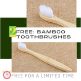 FREE: 2 pieces White Bamboo Toothbrush  (for a ⏰limited time ⏰)