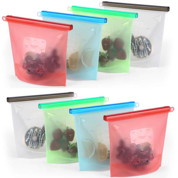8piece set 1Litre Silicone Food Pouch