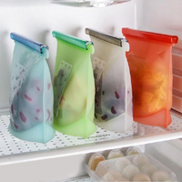 4piece set 1Litre Silicone Food Pouch