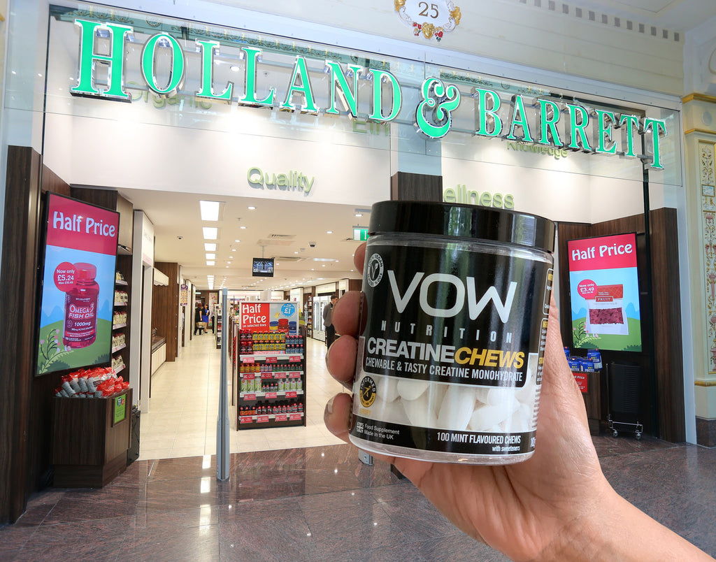 VOW Nutrition is Now Available in Holland & Barrett