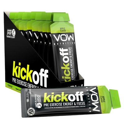 Kick Off x 12 Sachets - Pre Exercise Energy Gel - Vow Nutrition