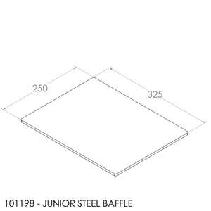 JAYLINE GEM/JUNIOR BAFFLE 250X325X6MM STEEL