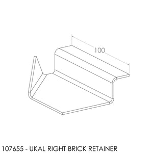 Jayline Ukal Brick Retainer Bracket SS - Right