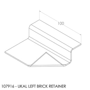 Jayline Ukal Brick Retainer Bracket SS - Left
