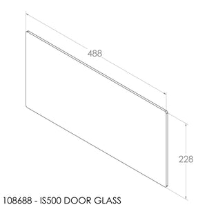 Jayline Door Glass (488x228mm)