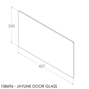 Jayline Door Glass (427x240mm)