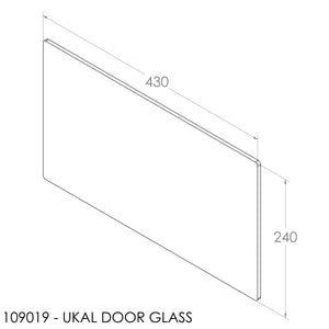 JAYLINE UKAL DOOR GLASS 430X240